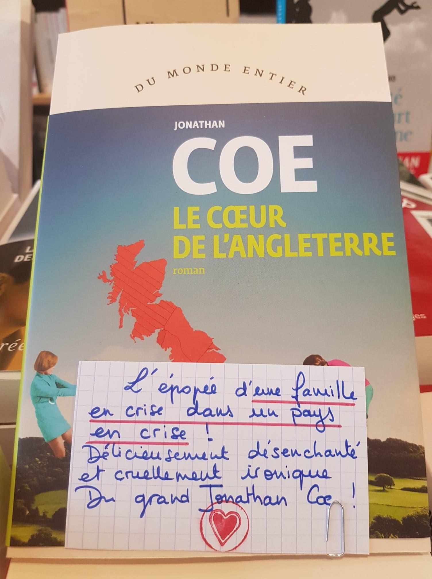 Le Coeur De Langleterre La Librairie Du Cours Lyon